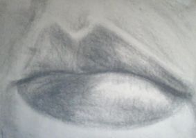 My Charcoal Lips by LightlyBow