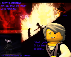 Wallpaper Garmadon with text by Lincelot1