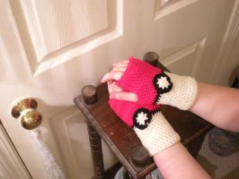 Pokeball Gloves II by pretending2bme