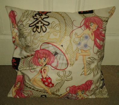 Cushion - Anime Pinup by The-Rubber-Pineapple