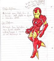 Iron Man invades my studying by zimpo