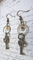 Steampunk earring by Rouages-et-Creations