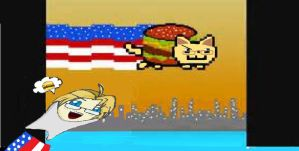 ~HETALIA~ - Nyan Americat and A hungry America -.- by Anime-YouTube-Jpop