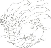 Giratina Origin Form Sketch by CoolMan666