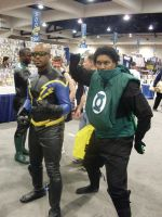 Black Lightning Green Lantern by mjac1971