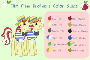 Flim Flam Brothers Color Guide by Catnipfairy