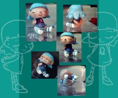 Chibi sculpey doll for Kyvie by Applefritter