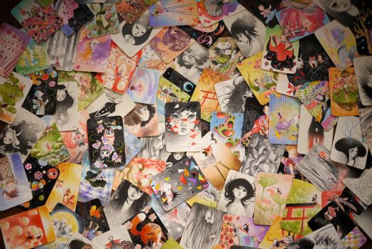 101 ACEO Cards by frecklefaced29