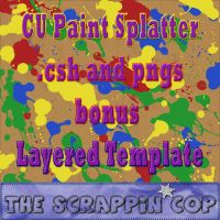 Paint Splatter Shapes by debh945