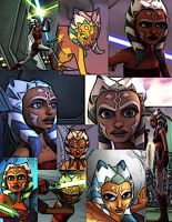 Collage of Ahsoka Tano by LadyIlona1984