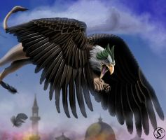 Green-headed Griffin by WackoShirow