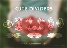 {Cute Dividers - Brushes} by Poqi