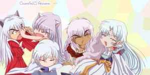 White Haired Chibis by Celestynn