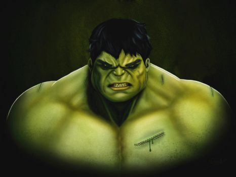 The Hulk Painting by captonjohn