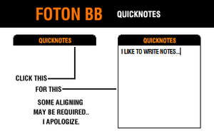 Foton BB: QuickNotes by theconcept