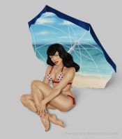 Trinquette Weekly Challenge: Bettie Page by franzmori