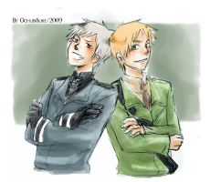 APH:: Prussia x England by OCibiSuke