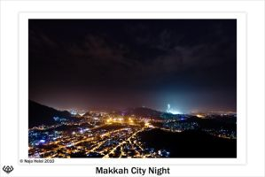 Makkah City Night by eyesweb1