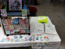 Anthrocon Table Display by Zelaphas