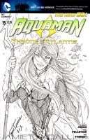 Female Aquaman Sketch Cover Commission by jamietyndall