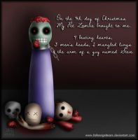 My Pet Zombie Christmas Day 4 by fallnangeltears