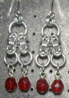Chainmaille Earring 54 by Des804