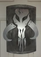 Mandalorian Skull Wall Hanging 1 by creativeetching