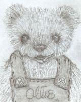Ollie Pencil Teddy Bear Sketch by kimbearlys