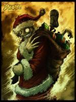 Santa Claws is Coming to Town by dholl