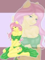 Pinup Fluttershy by Phynix
