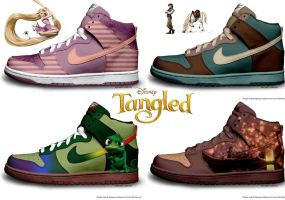 Tangled Nike Collection by RachaelLoraine