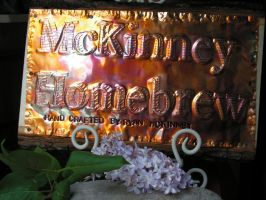Copper Sign Custom Torch Fired Patina by artistiquejewelry