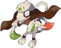 Mega Smeargle by CrystalCreatures