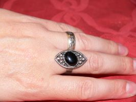 patinated silver ring by irineja