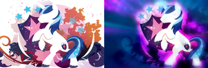 Shining Armor Silhouette Wall Edited by ConnieTheCasanova