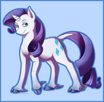 Pony style practice - Rarity by Arcticwaters