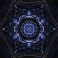 Blue Hex Mandala by darrellp