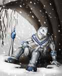 Commission - Xiphos the Polar Bear by Cryophase