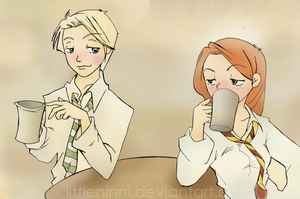 Drunking ButterBeer by LittleNinni