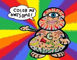 Freaky Tattoo Buddy Blank by AVRICCI