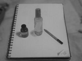 simple small bottle drawing 3/3 by jayiria