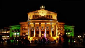 Berlin - Concert Hall at Night by pingallery