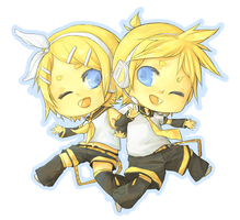Vocaloid- Len and Rin Kagamine by linedup