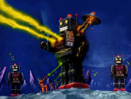 Attack of the Giant Robots by handycam
