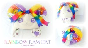 Rainbow Ram Hat by Feicoon