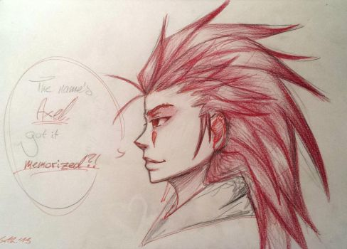 The name's Axel... by KleinesWuschel