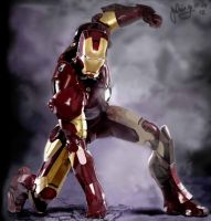 Iron man 3D digital painting by julius17
