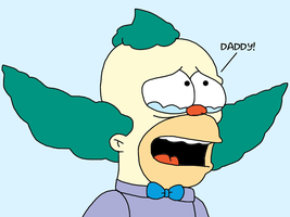 Krusty crying about his father by SuperMarcosLucky96
