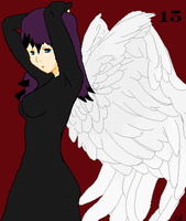 on an angels wings by NAMIHATAKE6