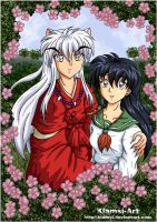 Kagome and Inuyasha cuteness by Klamsi